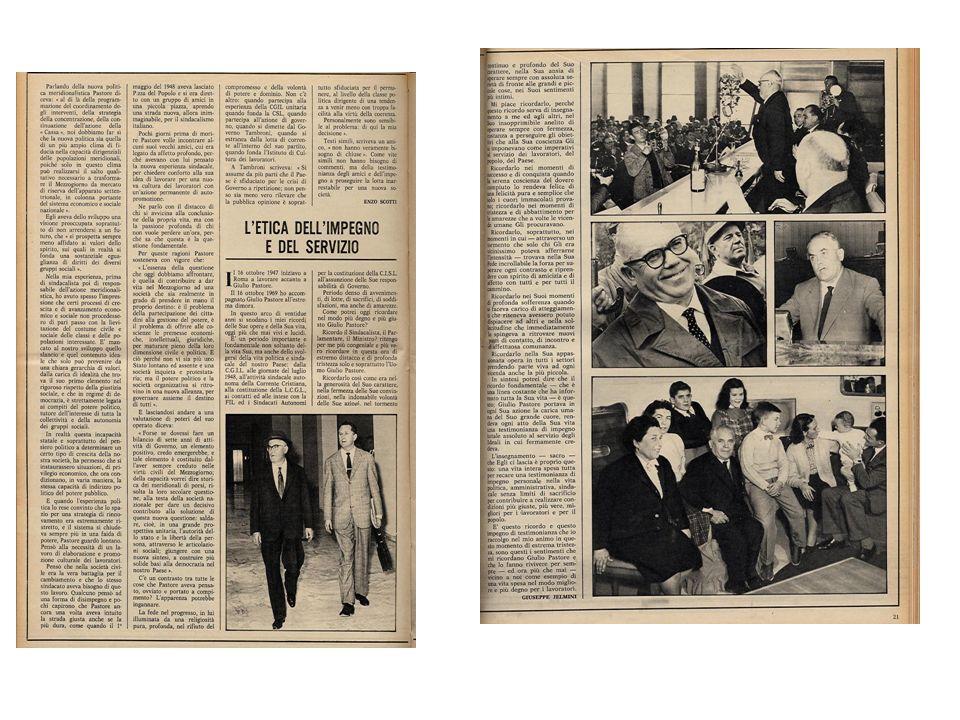 Anni 50:.. commemorazione di Buozzi e.. una riunione della ICFTU