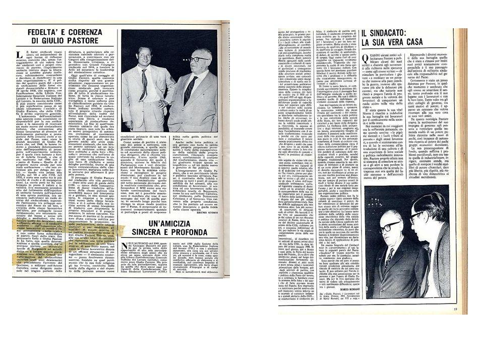 Anni 50: …con Luigi Morelli e con la nuova generazione cislina