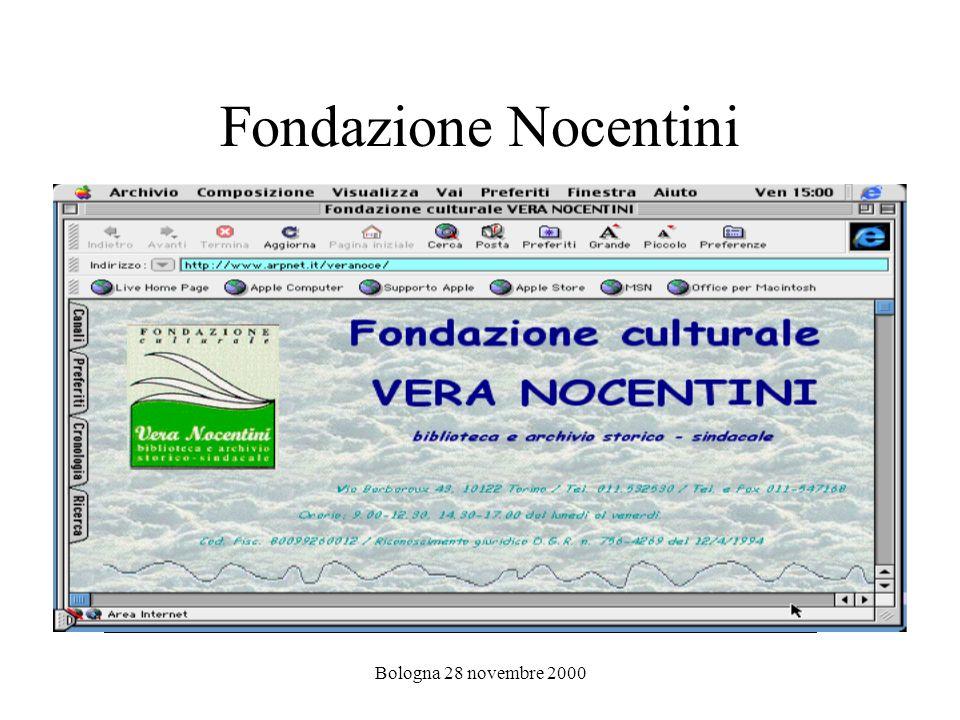 Bologna 28 novembre 2000 Cisl di Como