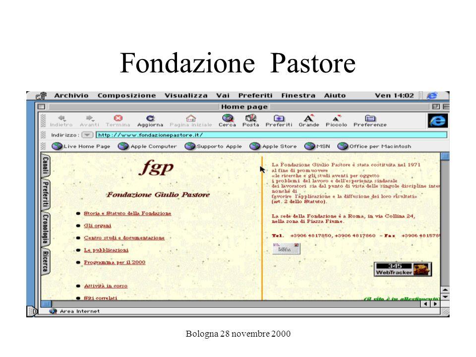 Bologna 28 novembre 2000 Fondazione Pastore