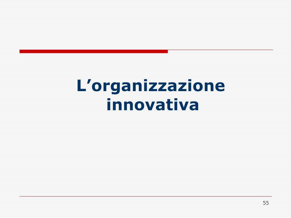 55 Lorganizzazione innovativa