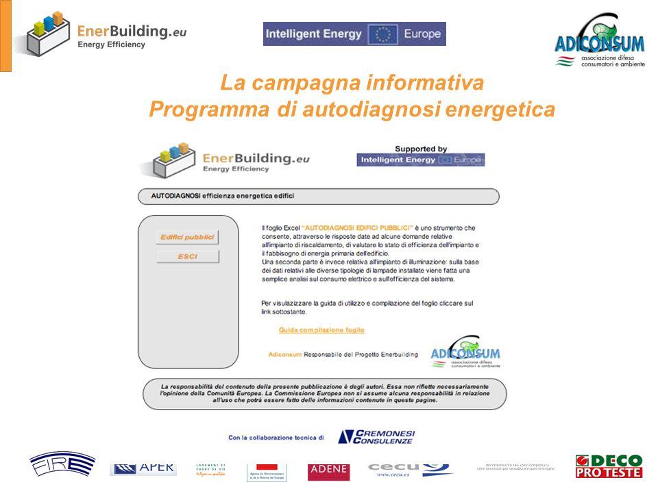 La campagna informativa Programma di autodiagnosi energetica
