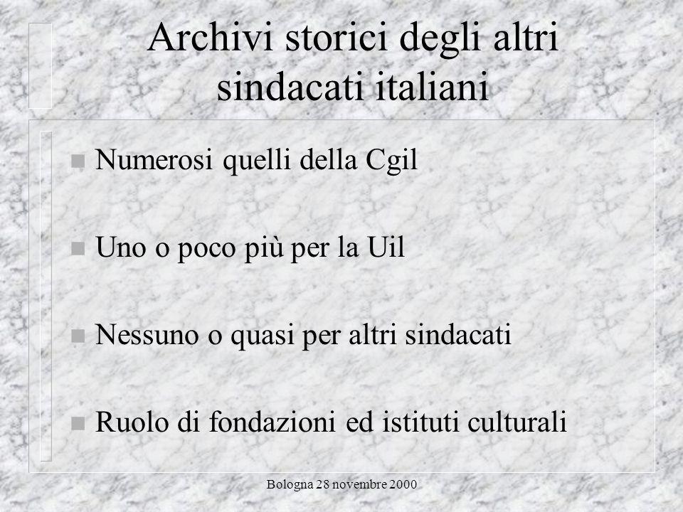 Bologna 28 novembre 2000 Questo ne è un esempio Internet e archivi storici sindacali e del lavoro Un primo approccio alle risorse disponibili sulla rete di Enrico Giacinto