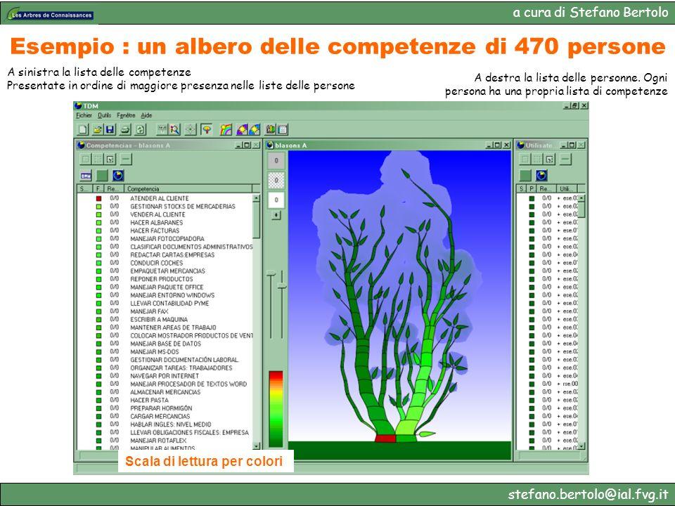 a cura di Stefano Bertolo stefano.bertolo@ial.fvg.it Esempio : un albero delle competenze di 470 persone A sinistra la lista delle competenze Presenta