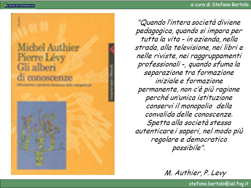 a cura di Stefano Bertolo stefano.bertolo@ial.fvg.it Quando lintera società diviene pedagogica, quando si impara per tutta la vita - in azienda, nella