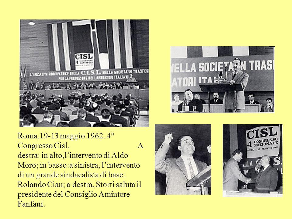 Roma,1 maggio 1960, Piazza del Popolo. La Cisl festeggia i suoi primi dieci anni.