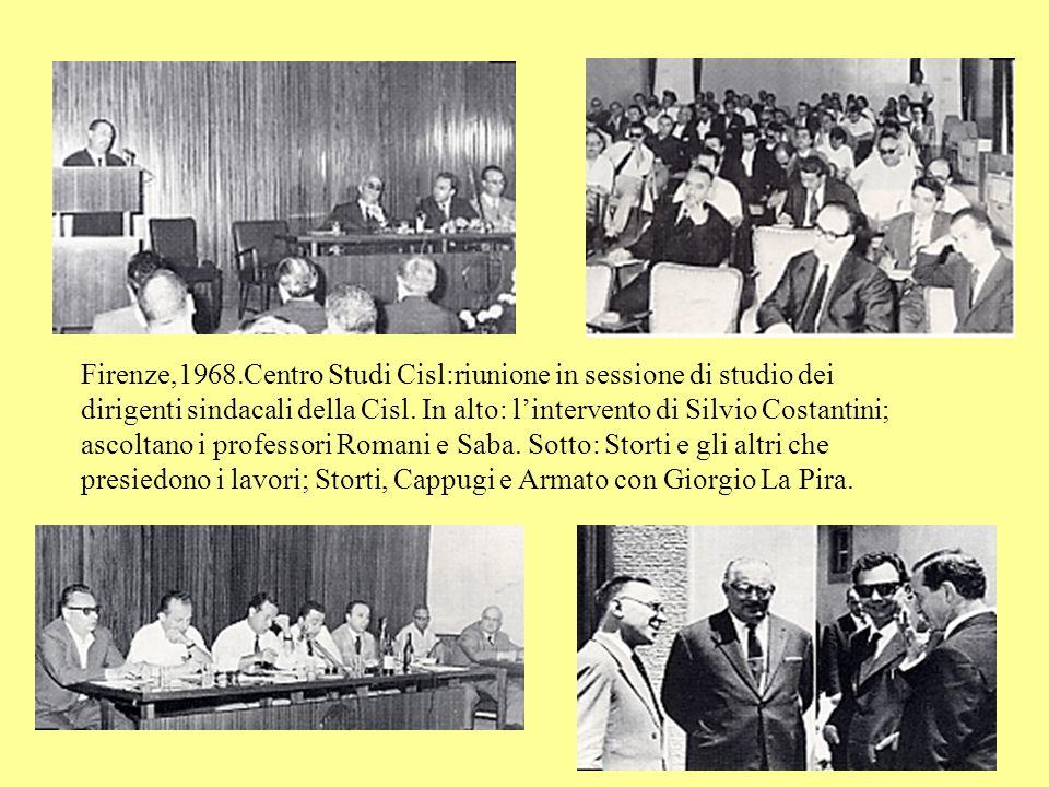 Bari,1 maggio 1967: manifestazione Cisl Bologna,1 maggio 1967: Mario Romani interviene alla celebrazione del decennale del Corriere Sindacale.