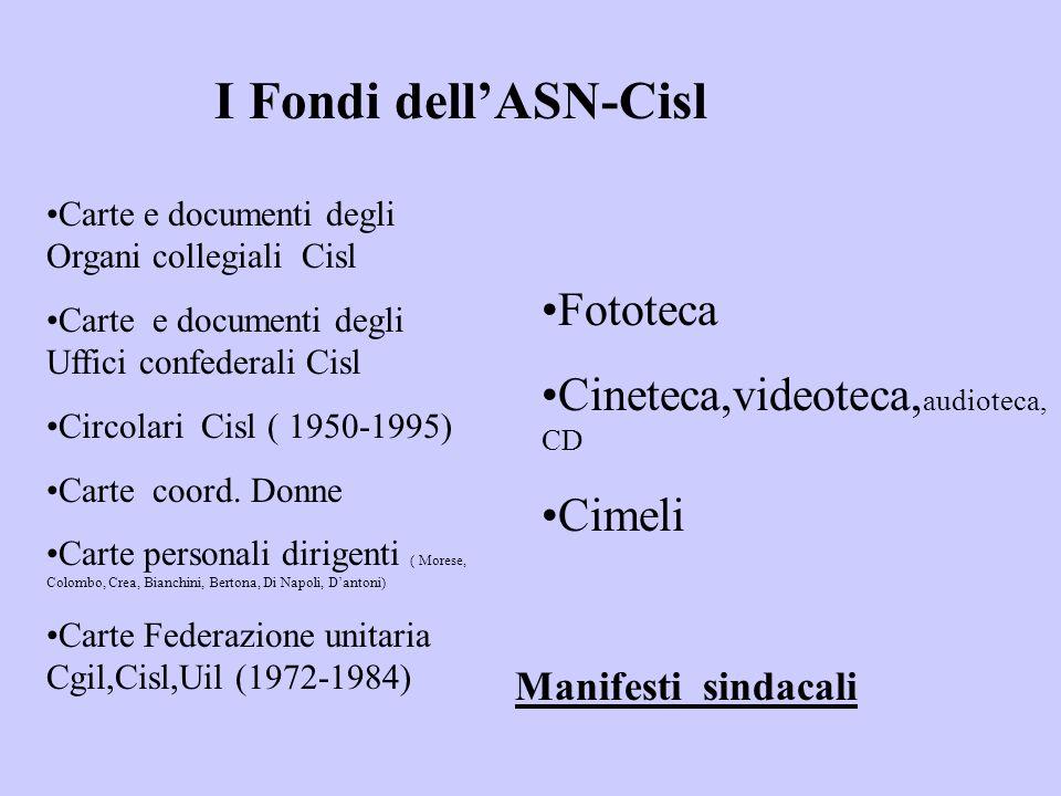 Carte e documenti degli Organi collegiali Cisl Carte e documenti degli Uffici confederali Cisl Circolari Cisl ( 1950-1995) Carte coord. Donne Carte pe