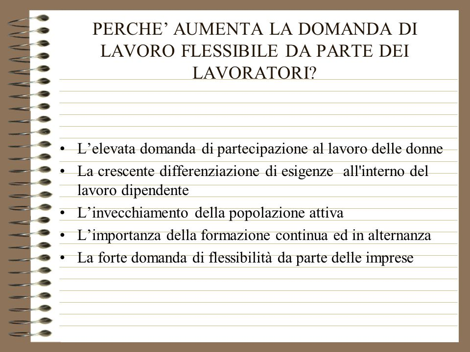 IL LAVORO FLESSIBILE TRA PART TIME E CONGEDI PARENTALI di Gabriele OLINI Ufficio Studi CISL 6 aprile 2000
