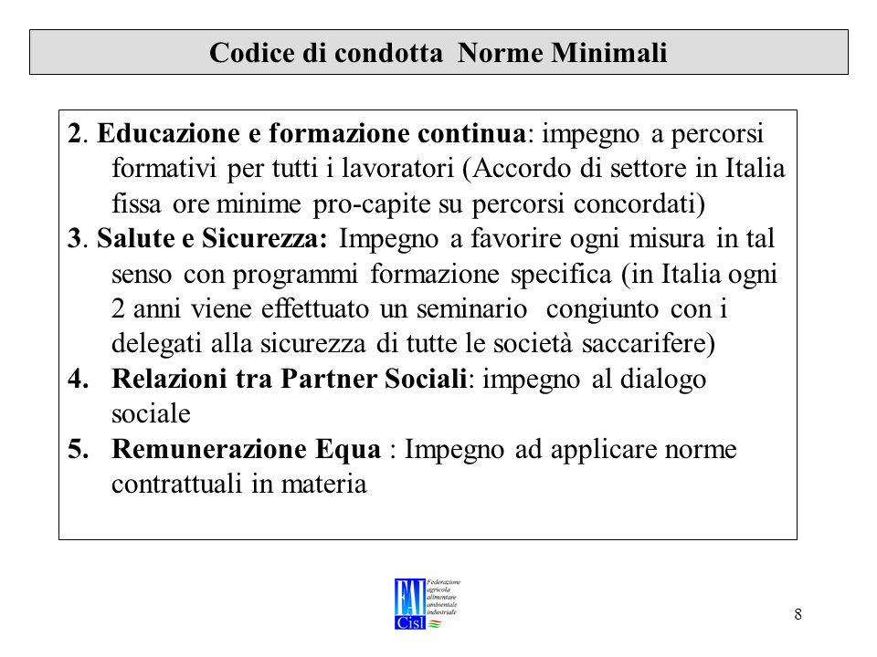 8 Codice di condotta Norme Minimali 2.