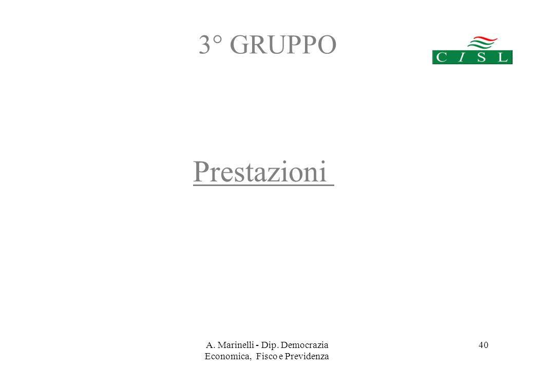 A. Marinelli - Dip. Democrazia Economica, Fisco e Previdenza 39 Fondi Pensione Aperti.