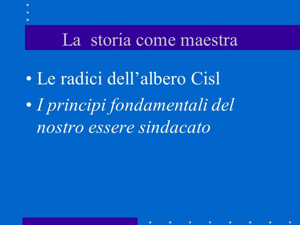 Le radici della Cisl Solidarietà Democrazia Libertà/autonomia/pluralismo Contrattazione Concertazione