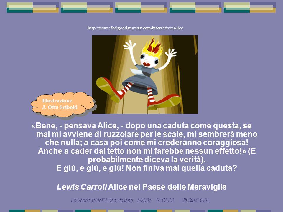 LO SCENARIO DELLECONOMIA ITALIANA di Gabriele OLINI Studi e ricerche CISL Ufficio Studi