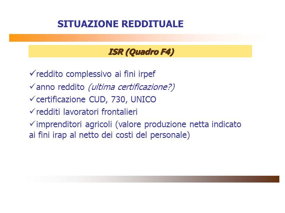 reddito complessivo ai fini irpef anno reddito (ultima certificazione?) certificazione CUD, 730, UNICO redditi lavoratori frontalieri imprenditori agr