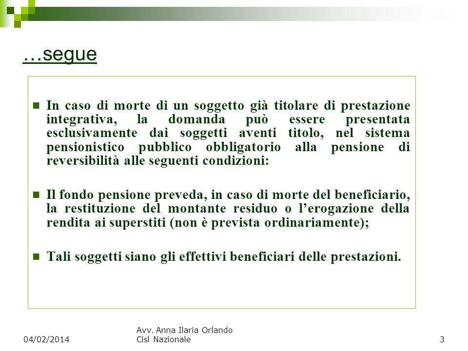 Prestazioni garantite dal Fondo ex art.5 d.lgs.