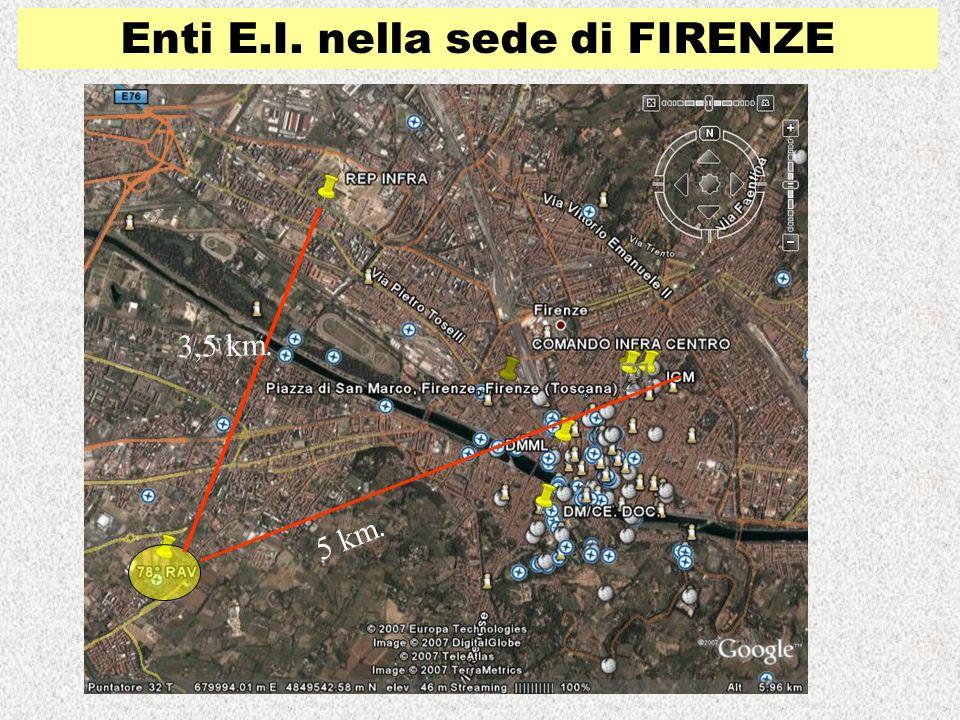 Enti E.I. nella sede di FIRENZE 5 km. 3,5 km.