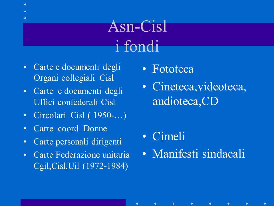 Asn-Cisl i fondi Carte e documenti degli Organi collegiali Cisl Carte e documenti degli Uffici confederali Cisl Circolari Cisl ( 1950-…) Carte coord.