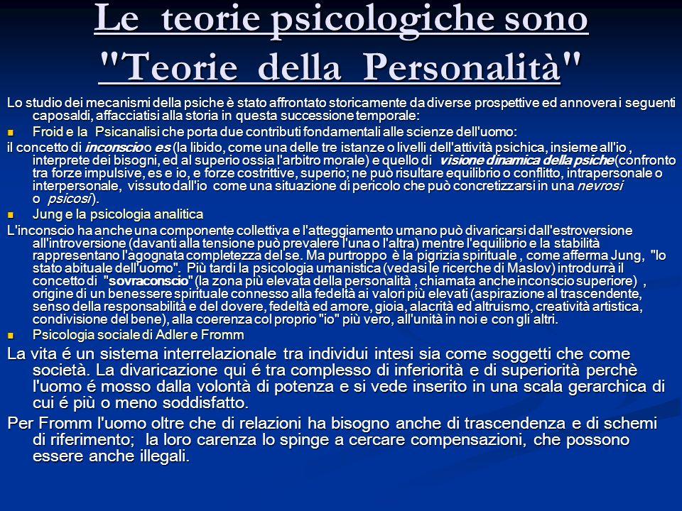 Le teorie psicologiche sono
