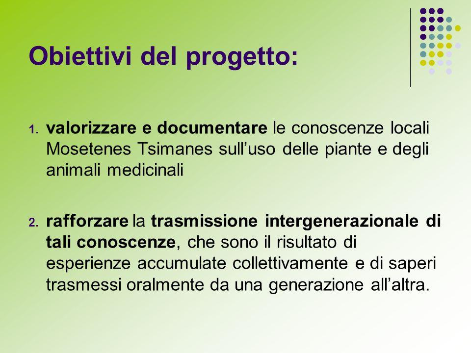Obiettivi del progetto: 1.