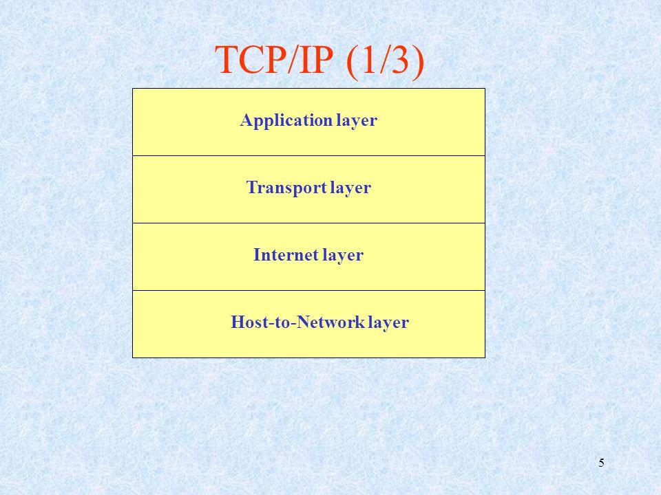 6 hhost-to-network layer, che si occupa della trasmissione a livello fisico (sotto forma di segnale elettromagnetico) delle unità logiche binarie (bit); iInternet layer, che opera suddividendo linformazione in pacchetti i quali, tramite il protocollo IP, devono essere correttamente instradati a destinazione; TCP/IP (2/3)