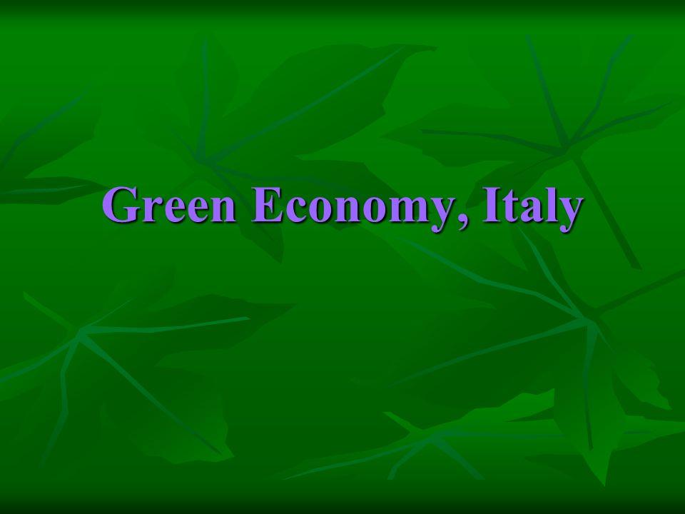 Green Economy, Italy