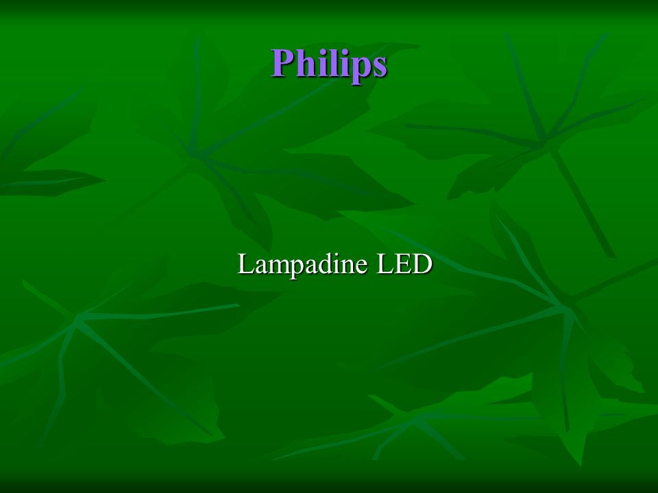 Philips Lampadine LED