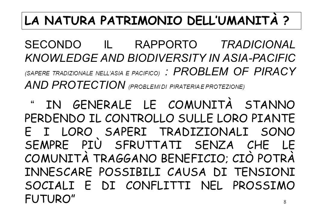 19 LA NATURA CAUSA DI CONFLITTI .