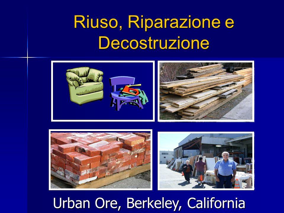 Riuso, Riparazione e Decostruzione Urban Ore, Berkeley, California