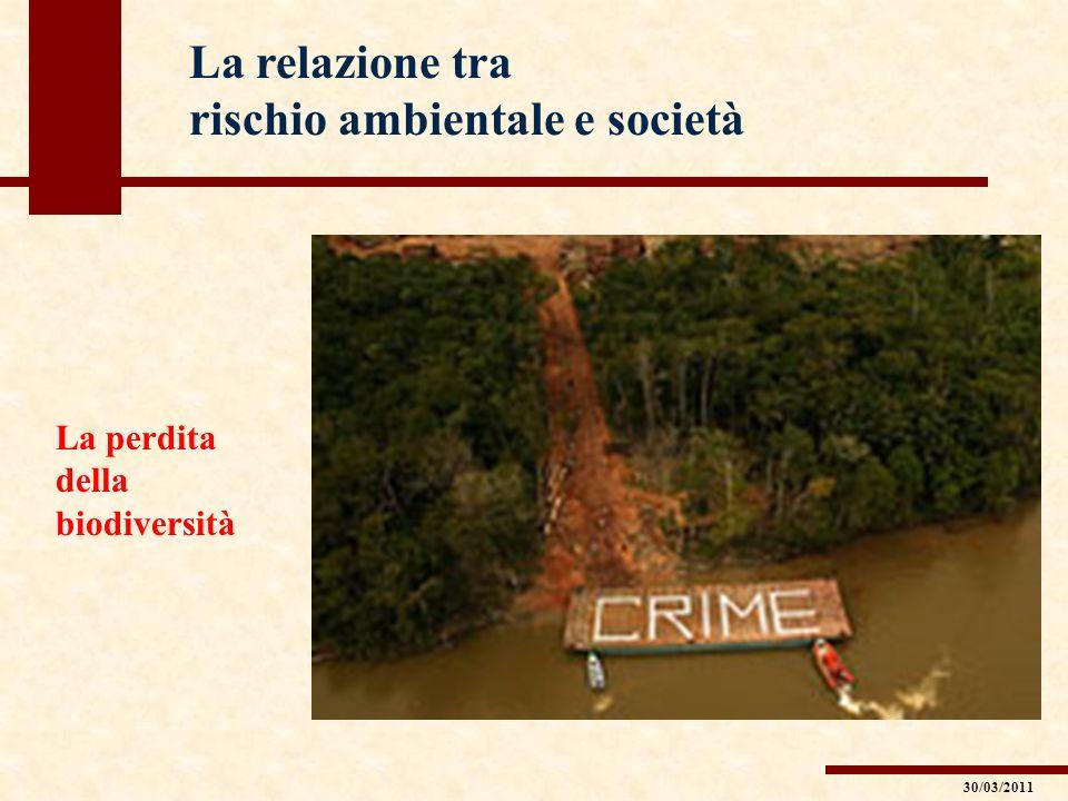La relazione tra rischio ambientale e società La perdita della biodiversità 30/03/2011