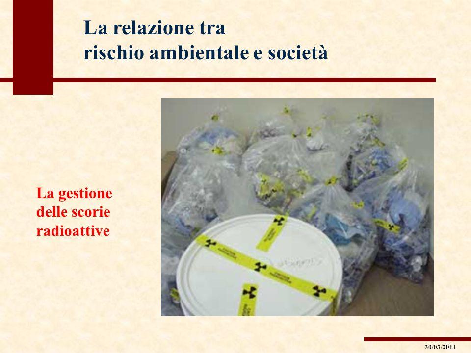 La relazione tra rischio ambientale e società La gestione delle scorie radioattive 30/03/2011