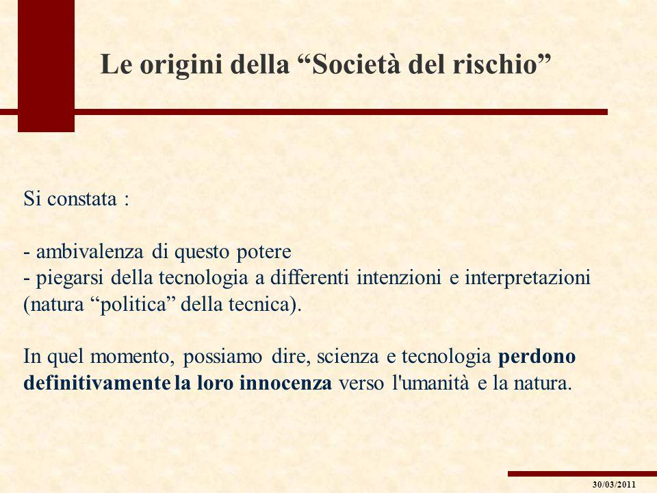 La relazione tra rischio ambientale e società Polli (AVIARIA) Mucche (BSE) Pecore (DOLLY) 30/03/2011