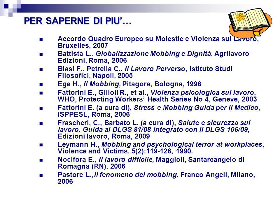 Elenco principali siti Web http iims.it Istituto Italiano Medicina Socialeiims.it http// osha.europa.eu European Agency for Safety and Health at Workosha.europa.