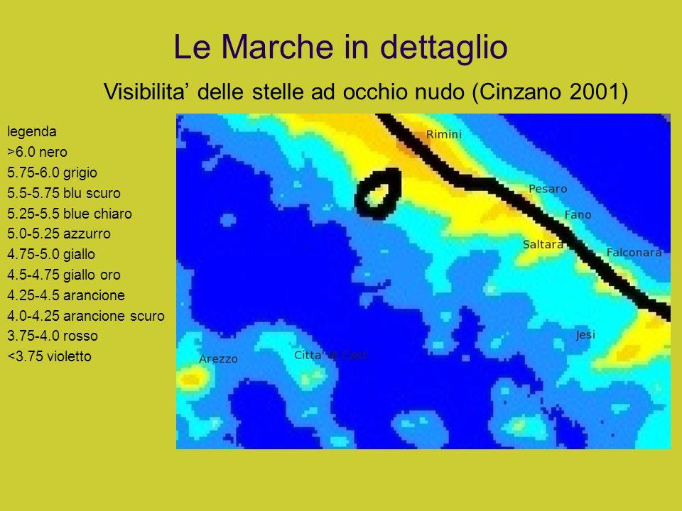 Le Marche in dettaglio legenda >6.0 nero 5.75-6.0 grigio 5.5-5.75 blu scuro 5.25-5.5 blue chiaro 5.0-5.25 azzurro 4.75-5.0 giallo 4.5-4.75 giallo oro
