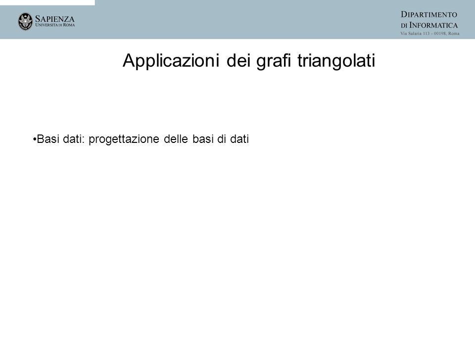 Applicazioni dei grafi triangolati Basi dati: progettazione delle basi di dati