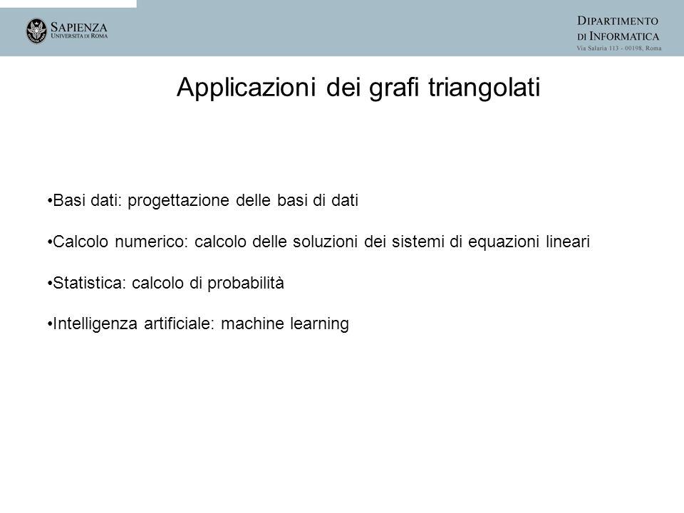 Basi dati: progettazione delle basi di dati Calcolo numerico: calcolo delle soluzioni dei sistemi di equazioni lineari Statistica: calcolo di probabil