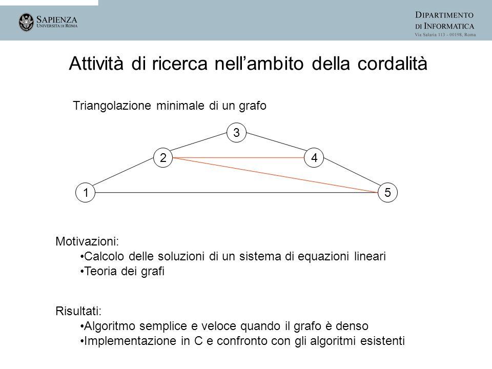 1 2 3 4 5 Motivazioni: Calcolo delle soluzioni di un sistema di equazioni lineari Teoria dei grafi Risultati: Algoritmo semplice e veloce quando il gr