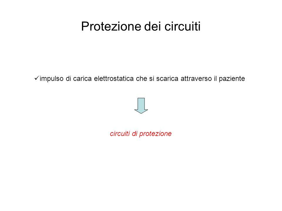 Protezione dei circuiti impulso di carica elettrostatica che si scarica attraverso il paziente circuiti di protezione