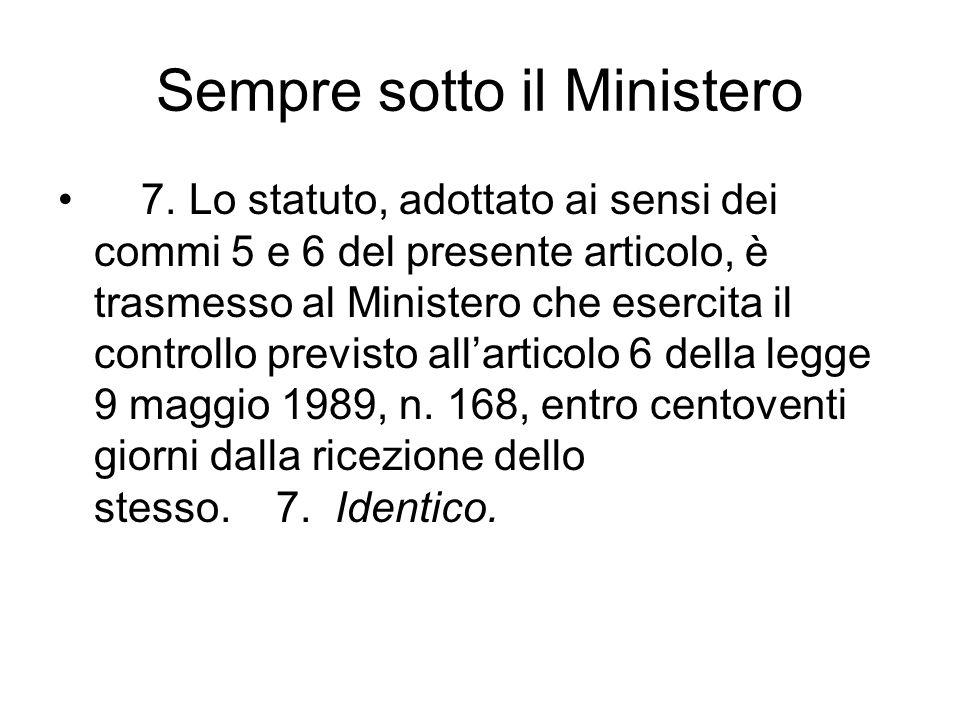 Sempre sotto il Ministero 7.