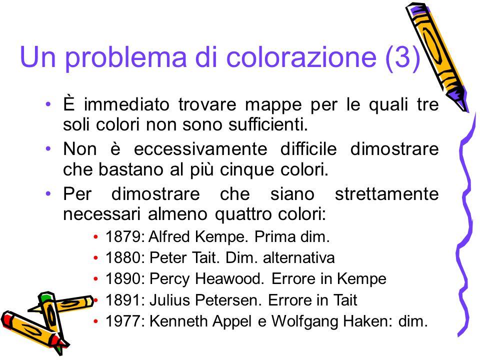 È immediato trovare mappe per le quali tre soli colori non sono sufficienti. Non è eccessivamente difficile dimostrare che bastano al più cinque color