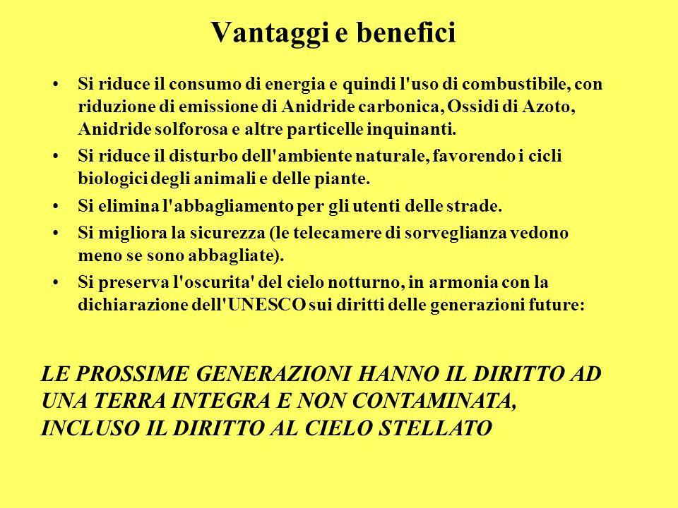 Vantaggi e benefici Si riduce il consumo di energia e quindi l'uso di combustibile, con riduzione di emissione di Anidride carbonica, Ossidi di Azoto,