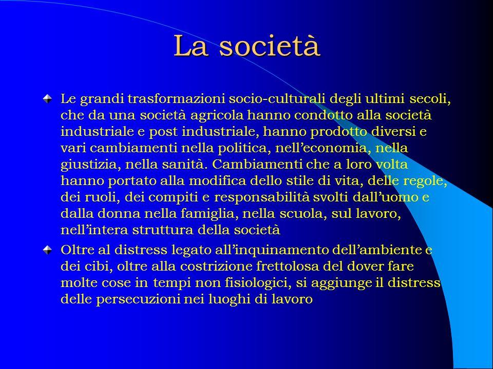 La società Le grandi trasformazioni socio-culturali degli ultimi secoli, che da una società agricola hanno condotto alla società industriale e post in
