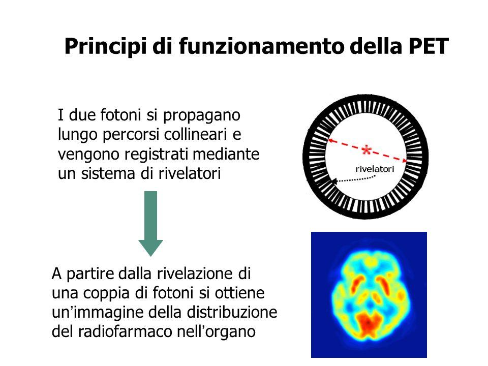 Coincidenza reale: evento che si verifica quando due fotoni vengono registrati da due rivelatori collineari in una finestra temporale di ~10 nsec.