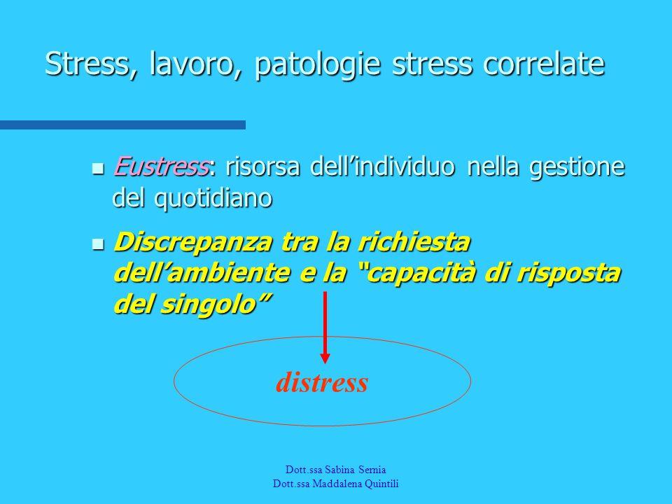 Dott.a M. Quintili Spec. in Medicina del Lavoro Eustress: risorsa dellindividuo nella gestione del quotidiano Eustress: risorsa dellindividuo nella ge
