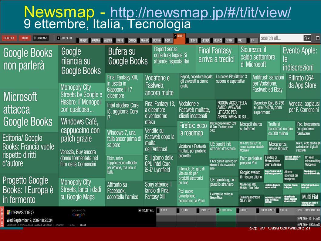 Sep. 09 Casa dellAviatore 21 Newsmap - http://newsmap.jp/#/t/it/view/ 9 ettembre, Italia, Tecnologia http://newsmap.jp/#/t/it/view/