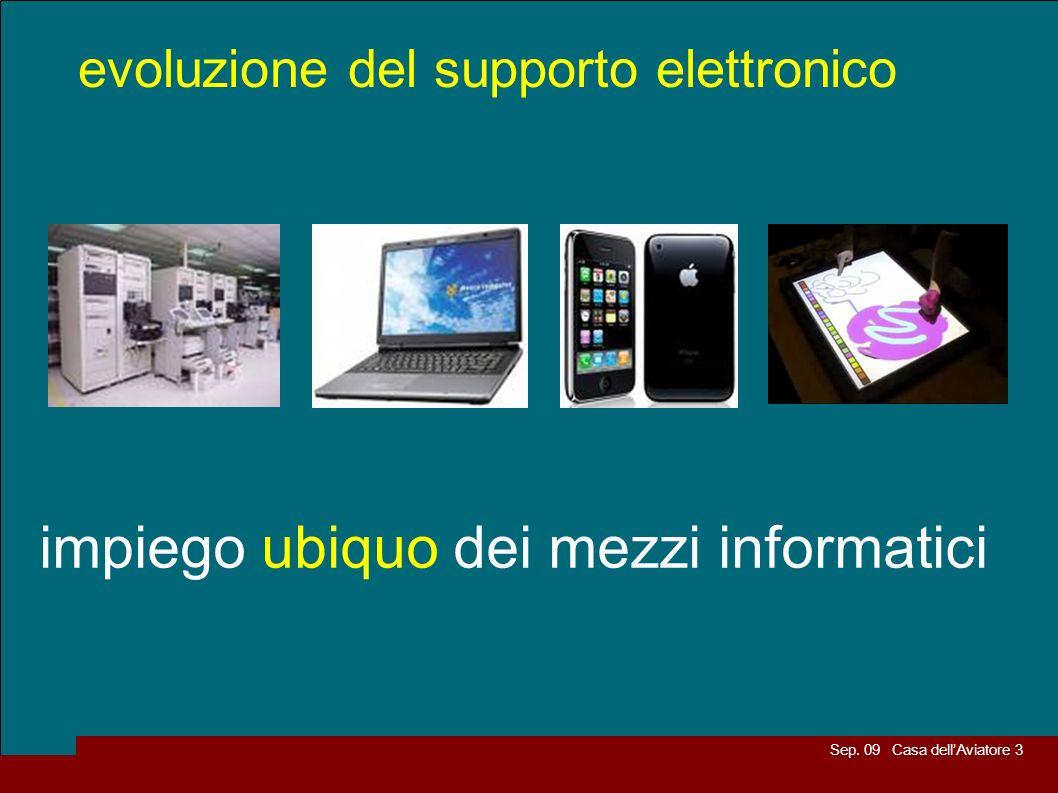 Sep. 09 Casa dellAviatore 3 evoluzione del supporto elettronico impiego ubiquo dei mezzi informatici