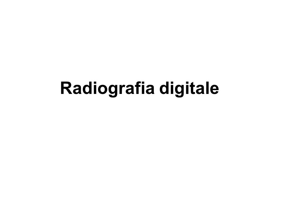 Radiografia digitale