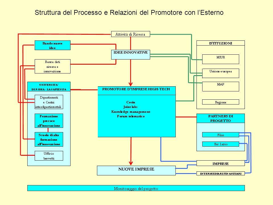 Struttura del Processo e Relazioni del Promotore con lEsterno