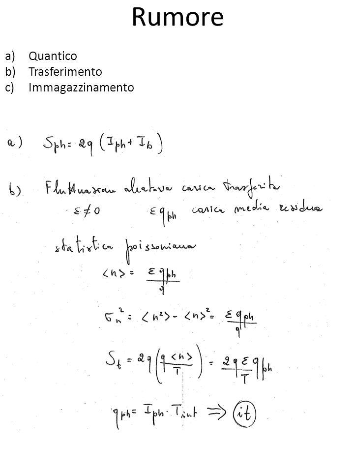 Rumore a)Quantico b)Trasferimento c)Immagazzinamento