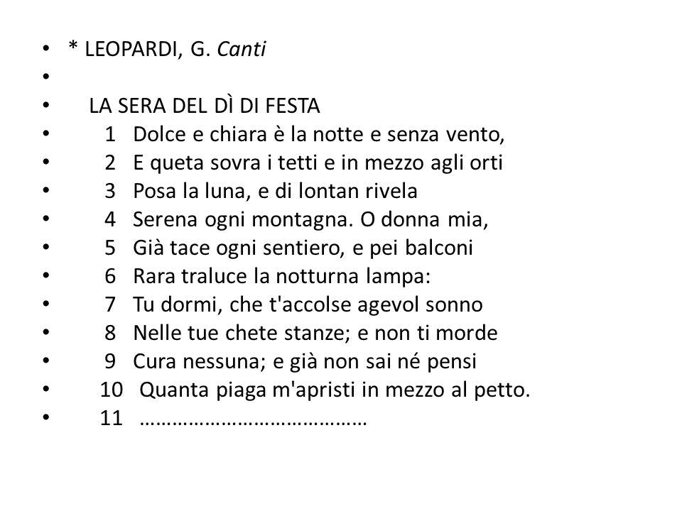 * LEOPARDI, G.