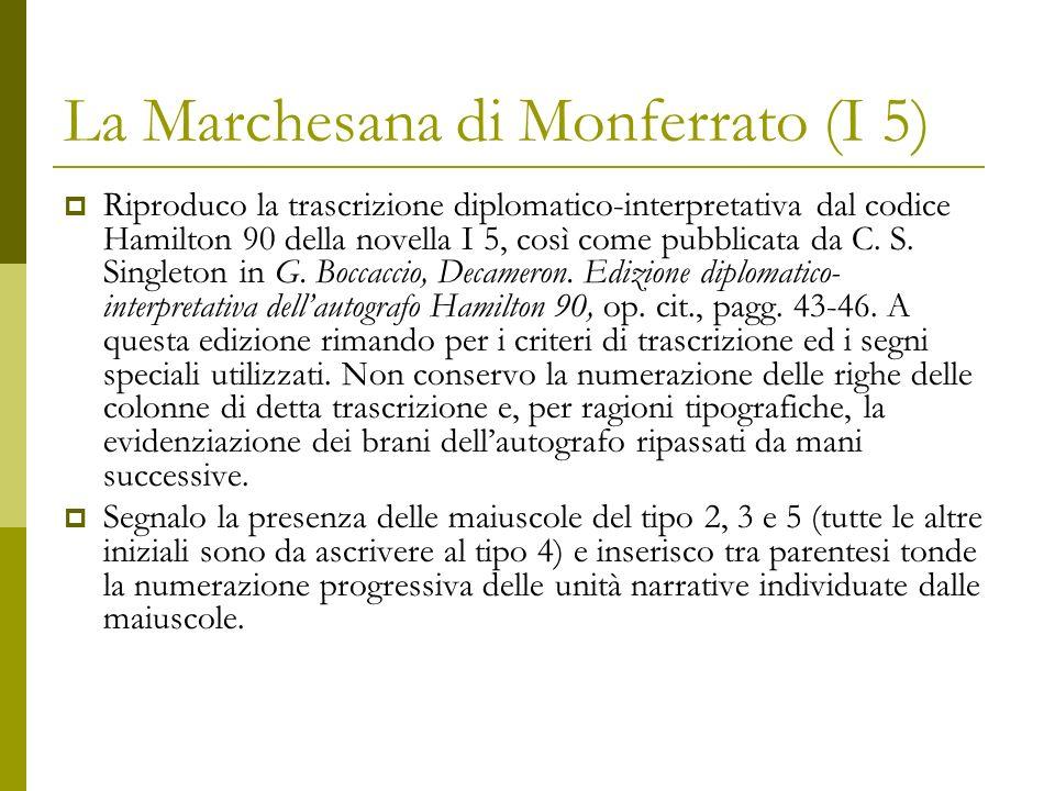 La Marchesana di Monferrato (I 5) Decameron I, 5 ~ La marchesana di monferrato c.